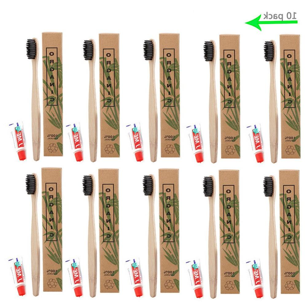 10 sets hotel disposable font b toothbrush