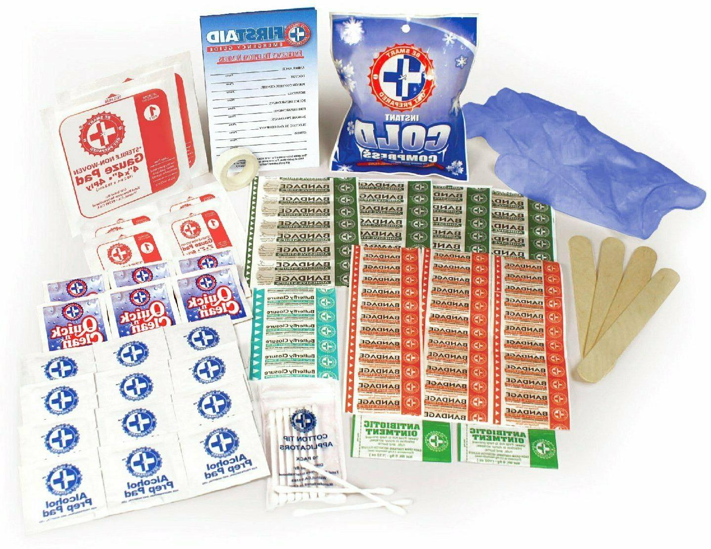 100 Piece Aid Kit Emergency Medical Bag Home Camping