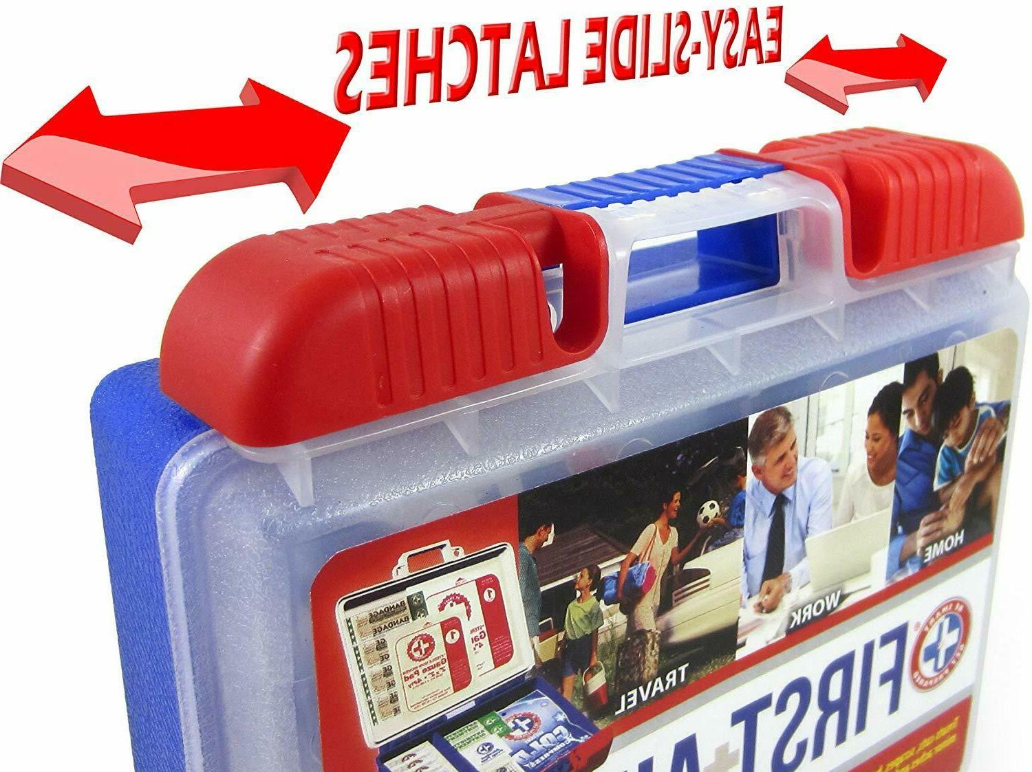 100 Piece Aid Kit Emergency Medical Bag Travel Home Car Camping