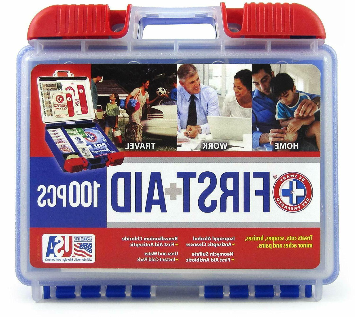 100 piece first aid kit emergency medical