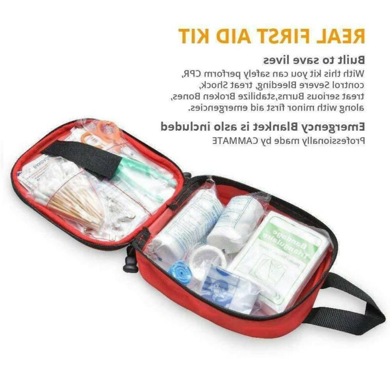 100PC First Medical Bag Camping Car Home Travel