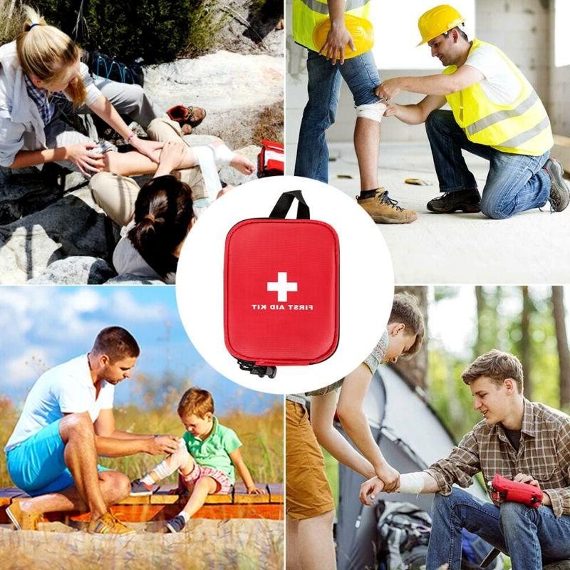 100PCS Aid Kit Medical Emergency Travel Medicine Home Outdoor Survival