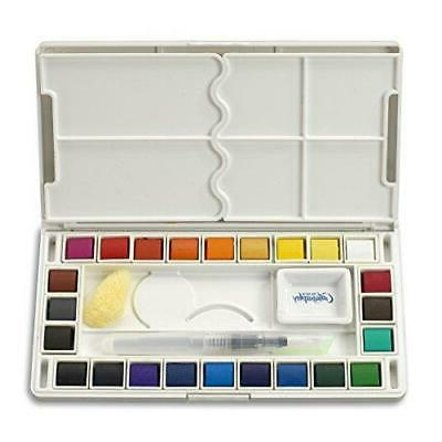 Jerry Q Art 24 Assorted Water Colors Travel Pocket Set- Free