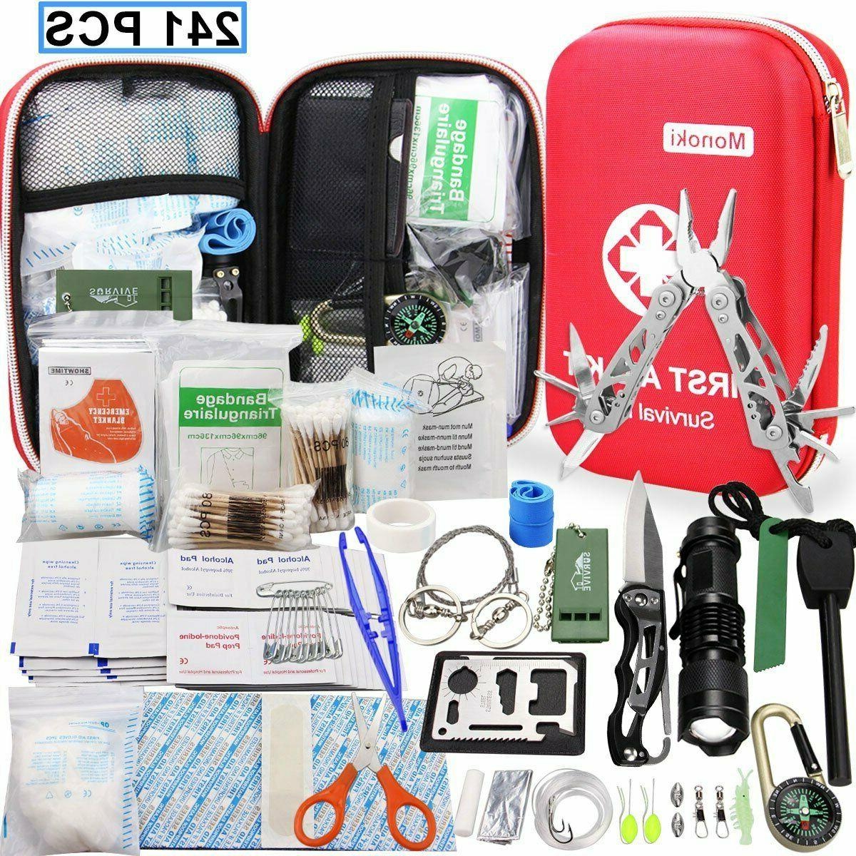 268 pcs first aid emergency kit travel