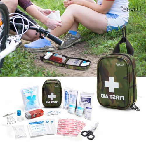 Luvkis 48pcs Mini Portable First Aid Kits Home Hiking OSHA T