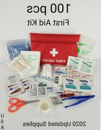 85 pcs first aid kit red emergency