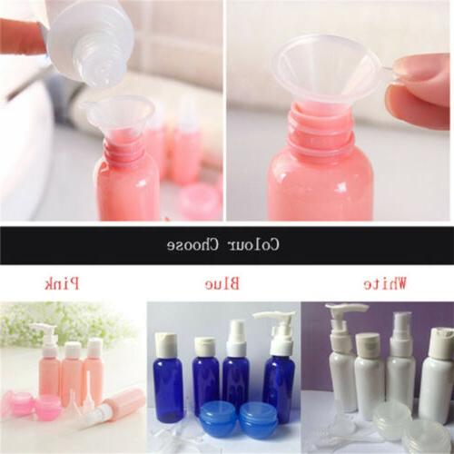 9 Refillable Cosmetics Bottles Clear Pouch L