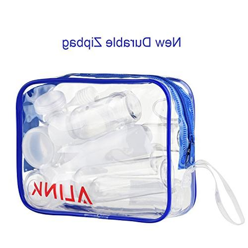 ALINK Bottles TSA Clear Makeup Containers with