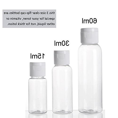 ALINK Toiletry Bottles Set, Clear Cosmetic Makeup Containers with