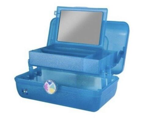 Caboodles On-the-Go Girl Blue Marble Vintage Case, 1 Pound