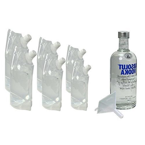 Hide Your Booze Flask and Funnel Kit Set 2 PACK -  8 oz Flas