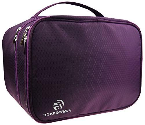 Large Double Layer Travel Organizer Bag for Underwear, Bra,