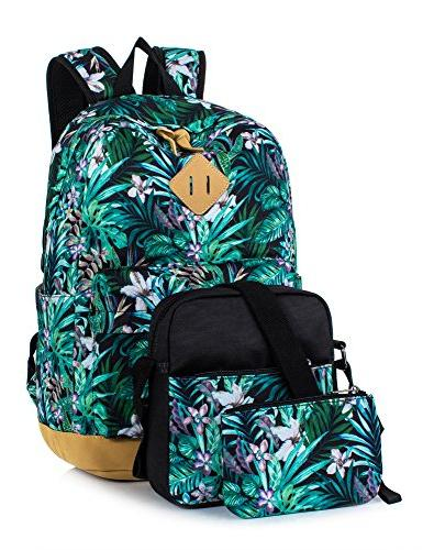 Leaper Floral Laptop Backpack School Bookbags Travel Bags Sh