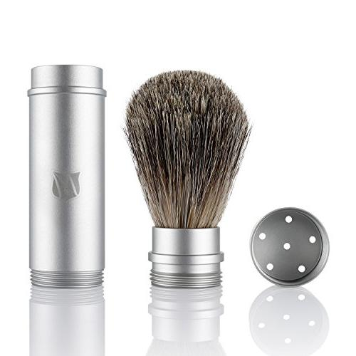 Miusco Badger Hair Brush Kit with Leather