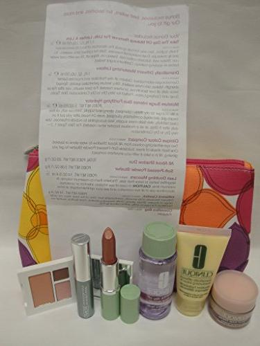 NEW Clinique Skin Care Makeup Pc Set Size Pinks Spring 2015 Value $70