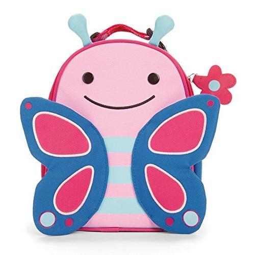"""Skip Hop Zoo Kids Insulated Lunch Box, Blossom Butterfly, 9"""""""
