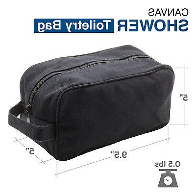 Army Force Gear Soft Canvas Dopp Travel Toiletry Bag Case