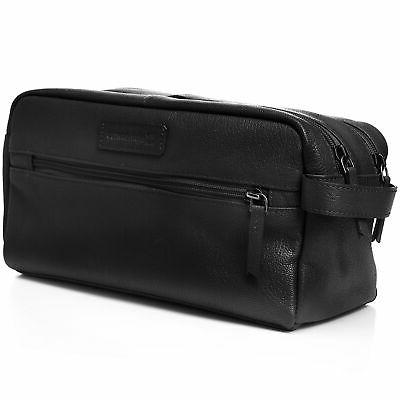 AlpineSwiss Toiletry Genuine Leather Dopp Kit