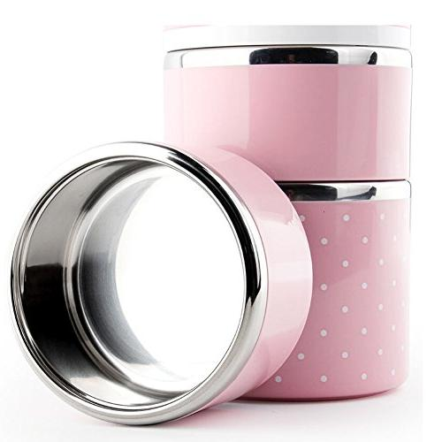 Bento Box - Insulated Leakproof Stainless Lunch Box and KidsFood Container Box Lunchbox