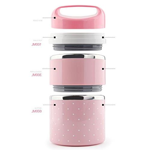 Bento Box - Portable Leakproof Stainless Lunch and Container