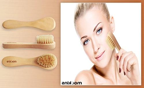 mockins Boar Body Set Detachable Long Wooden Handle For Dry Brushing Kit To Exfoliate And Alleviate Cellulite Day …