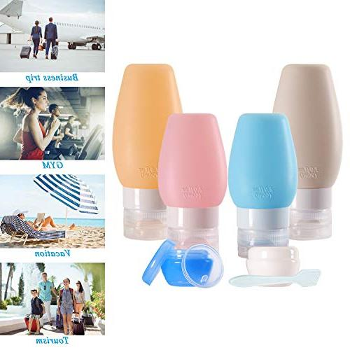 Chamch Travel Containers, Travel Kit for Conditioner, Lotion,