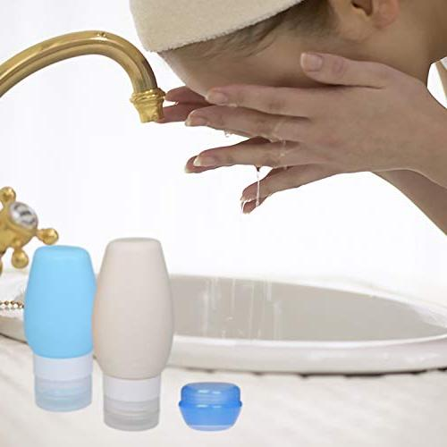 Chamch Travel Bottles Leakproof Silicone Travel Containers, Kit Shampoo, Conditioner, Lotion,
