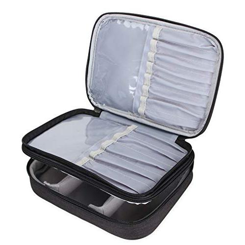 Teamoy Case, Professional Makeup Train Organizer Strap for and Makeup