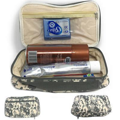 camo army travel kit organizer accessories bathroom