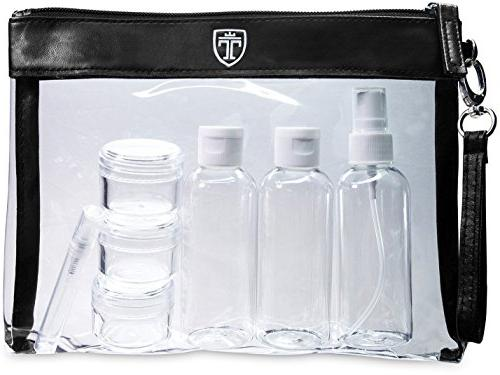 1cff5eee462b TSA Approved Clear Toiletry Bag with 7 Bottles