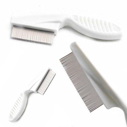 comb hair brush metal nit