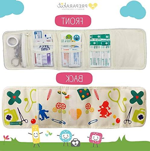 PreparaKit First - Mom First Mini Compact Kit 50 Essentials Bag Purse - Small for Emergency, Camping, Car, or