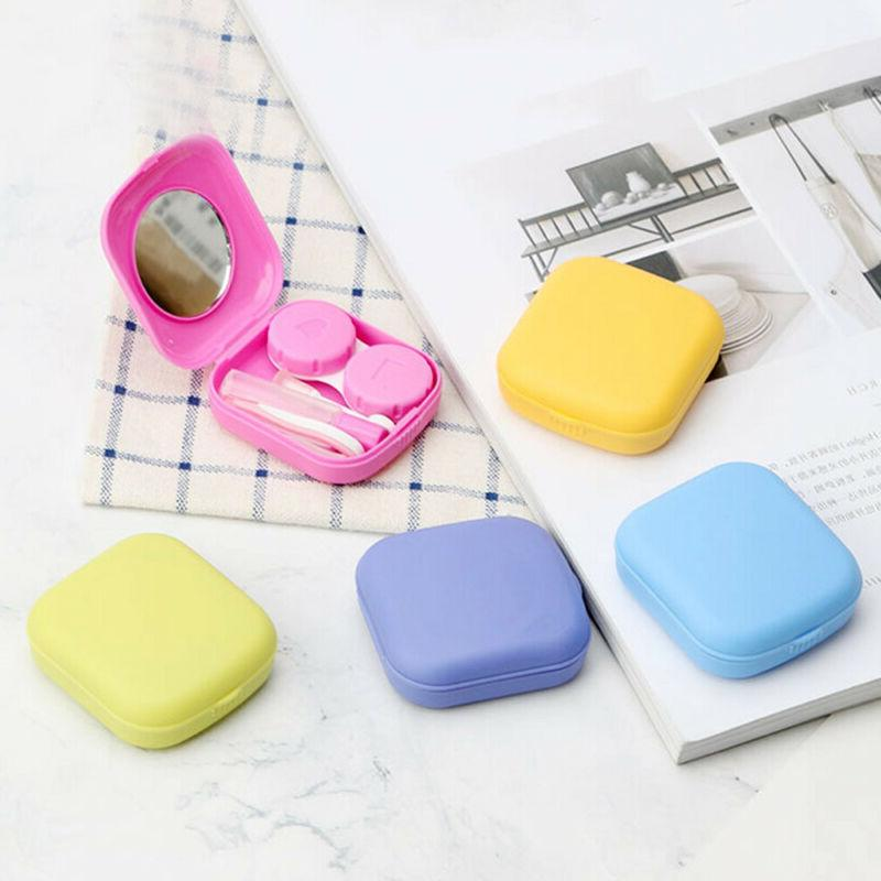 contact lens travel case mirror kit holder