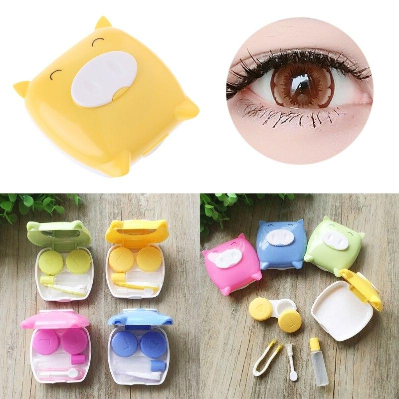 Cute Pig Mini Contact Lens Storage <font><b>Set</b></font> <
