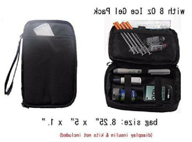 Diabetic Insulated Travel Case Freezer Pack Organizer