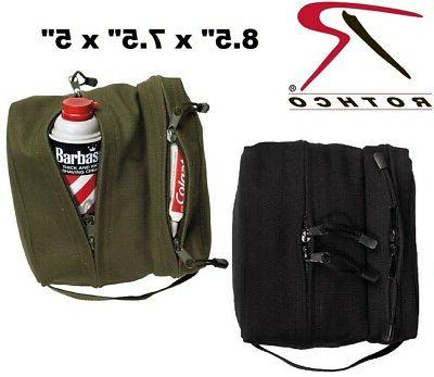 dual compartment travel kit bag toiletries