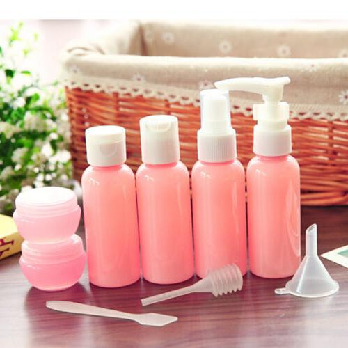 new 20pcs travel refillable pink plastic bottles