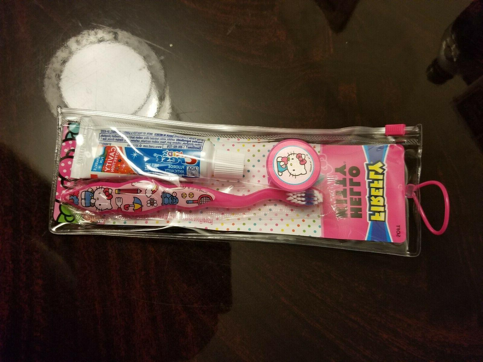Firefly Oral Care Travel Kit Hello Kitty Toothbrush
