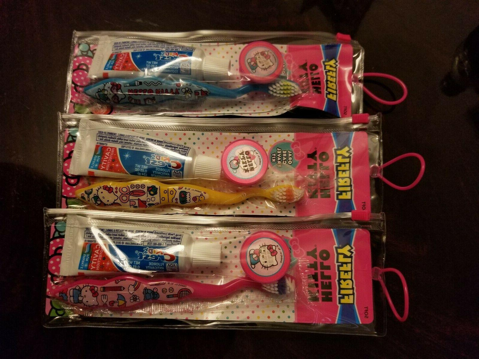 firefly oral care travel kit toothbrush