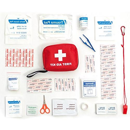 "First & Lightest"" Essential Care, Complete Kit for Office Car and Camping Aid"