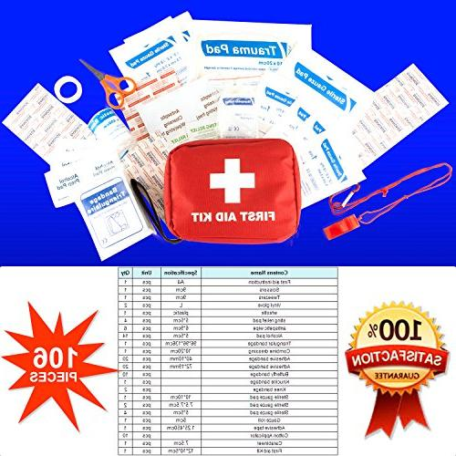 First & 106 Essential Items, Survival Care, Camping Aid