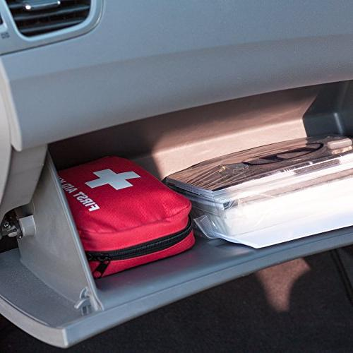 First Aid Kit, Essential Car Kit, Care, Complete Kit Perfect for Car Camping