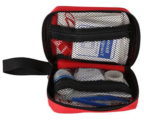 First Aid & Essential Items, Kit, Medical Care, Kit for Car Backpack and Camping Kit,