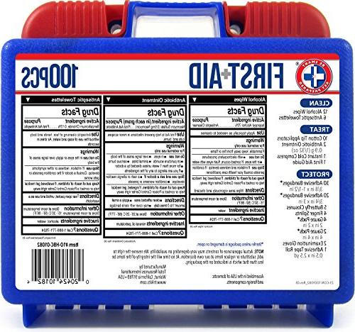 Be 100 Piece Aid Kit, Clean, and Protect most great any office, vehicle, and sports.