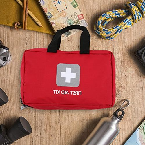 First Aid Kit – 291 Pieces Packed with hospital medical for for the Hiking, Office,