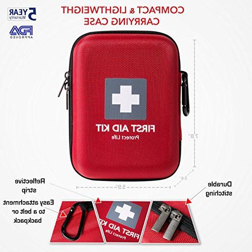 First Emergency 150 Camping, Hiking - Red Case Fully w/Medical Supplies