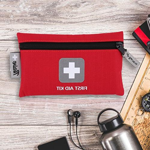 First Aid 66 – Packed with for Emergency, Survival, Hiking, Backpacking, Camping, & Cycling. prepared at Work