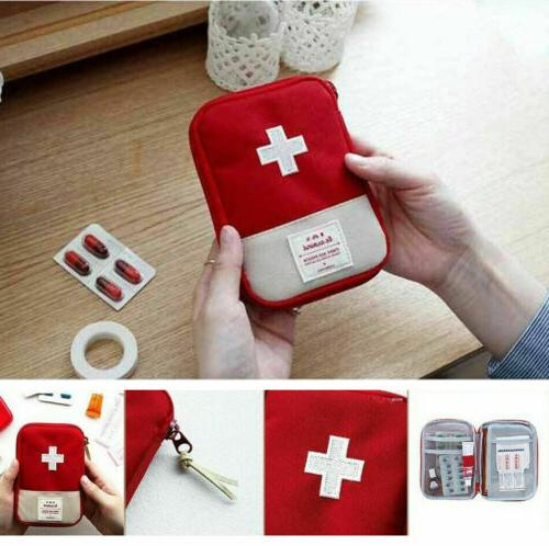 First Aid Medical Kit Carry Pouch Camping Travel