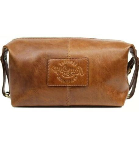 frankie travel kit toiletry brown leather bag