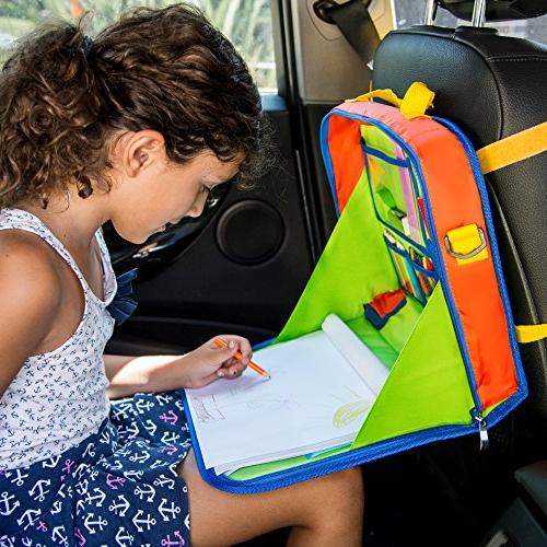 Creative Desk Seat Tray Coloring Set – Activity w/Storage Tablet, Crafts Other Road - Piece